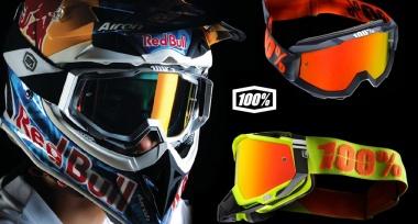 Motokrosové brýle 100% naskladněny