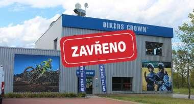 Všechny prodejny Bikers Crown jsou uzavřené