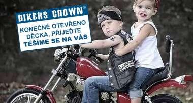 Prodejny Bikers Crown znovu OTEVŘENÉ