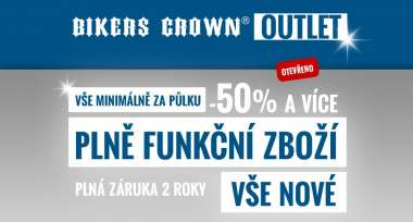 První český OUTLET pro motorkáře OTEVŘEN!